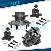 Rwd Front Wheel Bearing And Hub Ball Joint For 09-12 Chevrolet Colorado Gmc Canyon