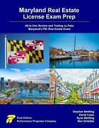 New Maryland Real Estate License Exam Prep 1st Edition Book, Isbn 9780915777631
