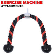 Tricep Rope Attachment Cable Machine Handle Fitness Pulldown Triceps Red And Black