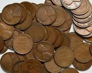 1924 S Roll Of 50 Lincoln Wheat Pennies No Culls