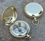 Lots Of 24 Pc Nautical Solid Brass 2 Push Button Compass Christmas Gift