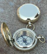 Lots Of 25 Pc Nautical Solid Brass 2 Push Button Compass Christmas Gift