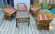 Vintage Rattan Bamboo Furniture By Alenter Cane Pickup Only