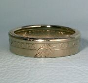 Us Gold Dollar Coin Ring, Statue Of Liberty Sealed Usa Size 5 - 12 1/2