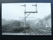 Derbyshire Millers Dale Station And Signals Locomotive Railway C1950s Rp Photocard