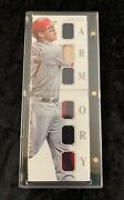 Rare 2014 National Treasures Mike Trout 6x Game Used Relic Booklet Armory 10/10