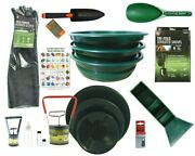 18 Piece Deluxe Gold Minerand039s Large Prospecting Kit With Pocket Sluice And Folding