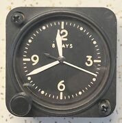Waltham Watch Co 9 Jewel A-11 22809 Aircraft Clock White Numbers And Hands