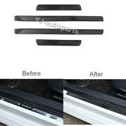 Carbon Fiber Door Sill Scuff Pedal Protect Cover Trim For Vw Golf Mk7 2014-2019