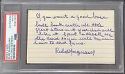 Rube Marquard Signed Index Card Baseball Autograph Letter Note Hof Psa/dna