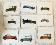 39 Pharmaceutical Color Prints Of Antique Cars And Locomotives