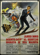On Her Majestyand039s Secret Service R1970 Orig. 39x55 Movie Poster George Lazenby