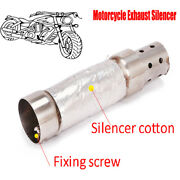 38-48mm Motorcycle Exhaust Silencer Baffle Insert Muffler Pipe Durable Practical
