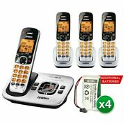 Uniden D1780-4 With Additional Battery Dect 6.0 Cordless Phone W/ 3 Extra