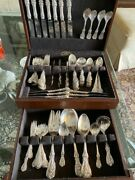 Reed And Barton Francis I Sterling Silver Flatware Set For 8 + Servers