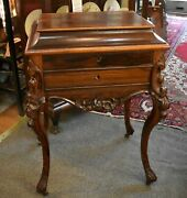 Circa 1820 New York Federal Classical Work / Sewing Table