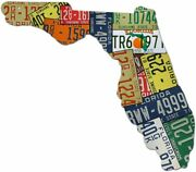 Florida License Plate Map Cut Sign The Sunshine State License Plates Map Sign