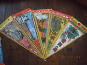 Vintage Japanese Pennants Kito Mito And More Lot Of 11 Fabric With Decorative Tr