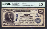 20 1902 Db The First National Bank Of Bowie Texas Ch 4265 Tough Texas National
