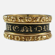 George Iv 18ct Gold And Enamel Memorial Mourning Ring, 1829