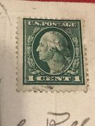1923 George Washington 1 Cent Stamp With Post Card Of Center Rare