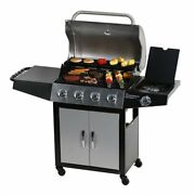 4+1 Burner Backyard Patio Stainless Steel Outdoor Cooking Bbq Gas Grill