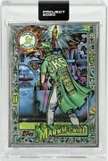 Topps Project 2020 216 Jk5 To20 Silver Frame Artist Proof Mark Mcgwire In Hand