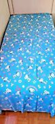 Peanuts Snoopy Vintage Twin Flat Bed Sheet Blue Fabric Letand039s Be Friends Alphabet