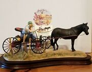 Lowell Davis From A Friend To A Friend Figurine Horse Carriage Dog Man