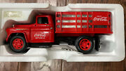 Coca Cola Die-cast Chevy Stake Truck W Vending Machines And Dolly Cart 1997 Nib.