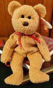 Retired Rare Ty Beanie Baby Curly The Bear Retired 93 96 Errors Collectible