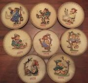 8 Mj Hummel Annual Plates, From 1972 To 1979