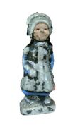 Pioneer Girl With Bonnet Lead Figure Unknown Maker 2 1/8 High