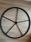 Sailboat Steering Wheel 900 Mm With Leather Cover + Pedestal Cover