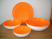 Tupperware Radiance Serving Bowls/containers Set3new/orange Peel/white