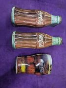 Vintage Coca Cola Bottle Shaped Tin 1997 Hinged Lid 13andrdquo Coke Box Collectible Lot