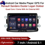 7andrdquo Android Car Stereo Media Player Gps For Renault Sandero Duster Logan Dokker