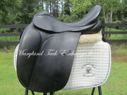 17.5 County Perfection Cc Dressage Saddle- Wool Flocked-mn Tree- On Trial