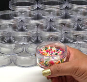 45 Cosmetic Jars Empty Plastic Beauty Containers 50 Gram 50 Ml Clear Caps 3057
