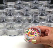 200 Cosmetic Jars Empty Plastic Beauty Containers 50 Gram 50 Ml Clear Caps 3057