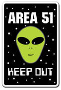 Area 51 Alien Decal Parking Space Aliens Roswell Gift Spacemen Et Ufo Gag Funny