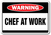 Chef At Work Warning Decal Restaurant Cook Decals Sous Executive Short Order