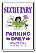 Secretary Decal Parking Decals Administrative Assistant Receptionist