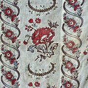 18th Century French Siamoise Fabric Textile Bed Canopy Bedding Textile Quilt