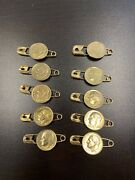 Gold Dime Genuine Pure 24 Karat 7 Mils Gold Layered Usa- Dipped Clothes Pin