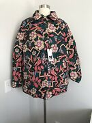Nwt 606 Missoni White Duck Down Reversible Puffer Pocket Jacket Size 44