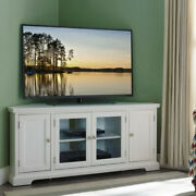Corner Tv Stand Console Bookcase Cabinet Storage Shelf White For Tvs Up To 60