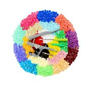 Ilauke 400 Sets Snap Buttons With Snap Pliers T5 Plastic Snaps No-sew Buttons...