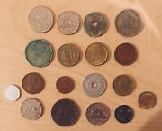 Large Old Coin Lot Foreign Old Money 18 Coins Uk German Portugal Canada Etc