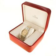 Mens Omega Constellation Watch Yellow Gold Stainless Steel
